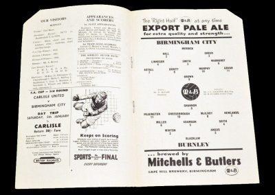 Birmingham City v Burnley 29.12.1956