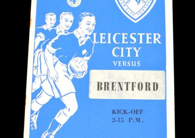 Leicester City v Brentford 05.12.1953