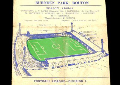 Bolton Wanderers v Arsenal 01.04.1961