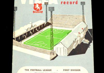 Aston Villa v Bolton Wanderers 04.04.1961