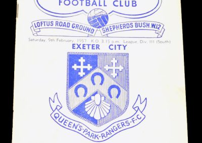 Exeter City v Queens Park Rangers 09.02.1957