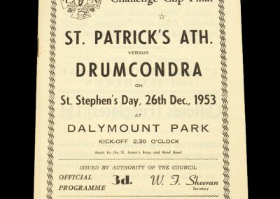 ST Patrick's ATH v Drumcondra 26.12.1953 | Leinster FA Challenge Cup Final