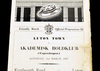 Luton Town v Akademisk Boldklub 02.03.1957