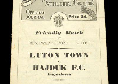 Luton Town v Hajduk FC 30.01.1954