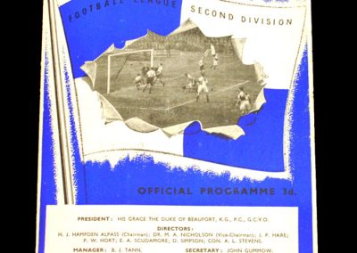 Bristol Rovers v Notts Co 13.02.1954