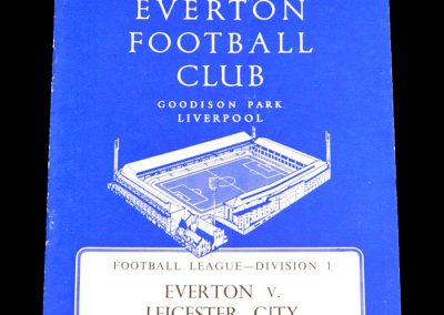 Everton v Leicester City 27.08.1960