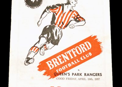 Brentford FC v Queens Park Rangers 19.04.1957