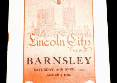 Lincoln City v Barnsley 27.04.1957