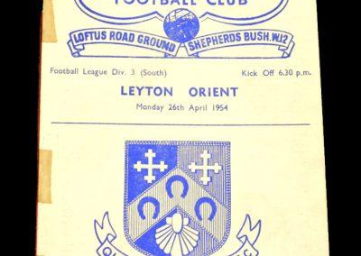 Queens Park Rangers v Leyton Orient 26.04.1954