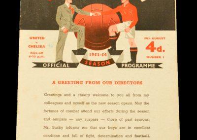 Chelsea v Manchester United 19.08.1953