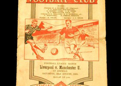 Liverpool v Manchester United 22.08.1953