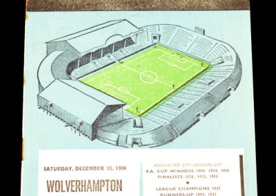 Manchester City v Wolverhampton Wanderers 15.12.1956