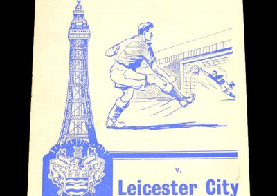 Blackpool FC v Leicester City 17.12.1960
