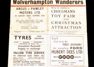 Charlton Athletic v Wolverhampton Wanderers 25.12.1956