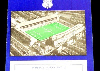 Everton v Wolverhampton Wanderers 29.12.1956