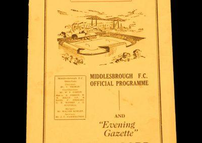 Middlesbrough v Manchester United 16.09.1953