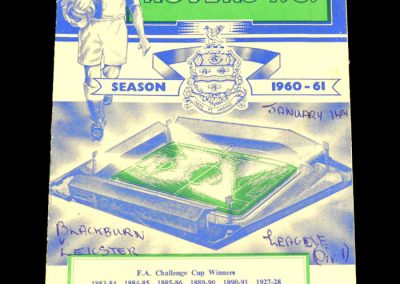 Blackburn Rovers v Leicester City 14.01.1961