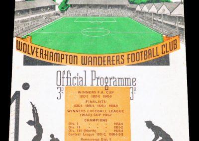 Bournemouth v Wolverhampton Wanderers 26.01.1957   4th Round