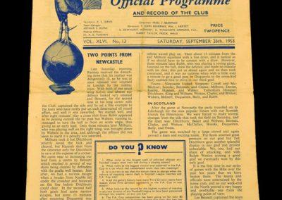 Tottenham Hotspur v Manchester United 26.09.1953