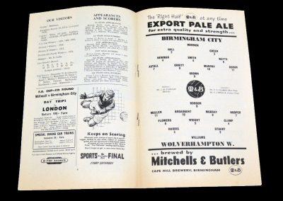 Birmingham City v Wolverhampton Wanderers 09.02.1957