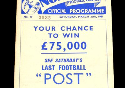 Preston North End v Leicester City 25.03.1961