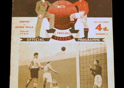 Aston Villa v Manchester United 24.10.1953