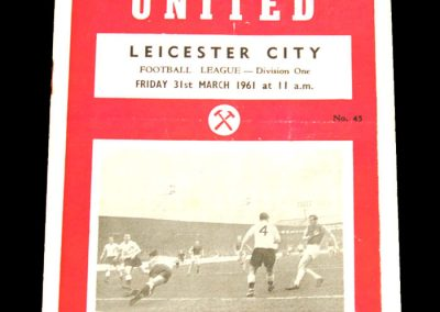 West Ham United v Leicester City 31.03.1961