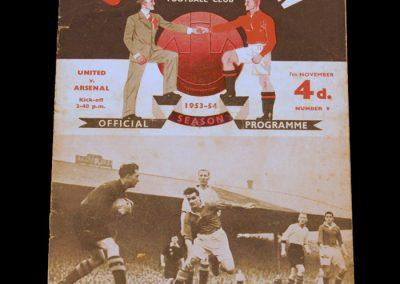 Arsenal v Manchester United 07.11.1953