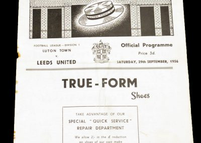 Luton Town FC v Leeds United 29.09.1956