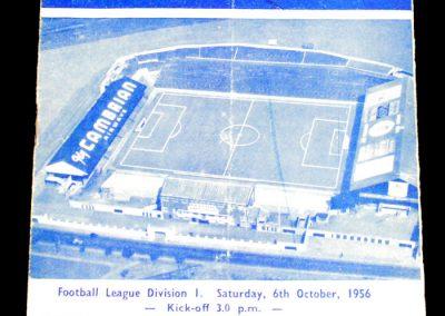 Cardiff City v Leeds United 06.10.1956