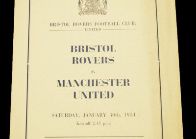 Bristol Rovers v Manchester United 30.01.1954