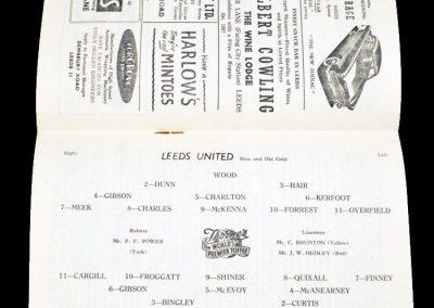 Sheffield Wednesday v Leeds United 10.11.1956