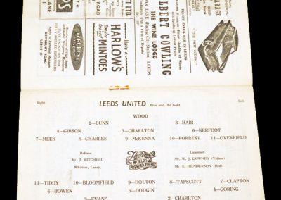 Arsenal v Leeds United 24.11.1956