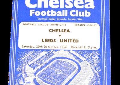 Chelsea v Leeds United 29.12.1956
