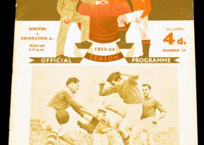 Charlton Athletic v Manchester United 16.04.1954