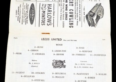 Cardiff City v Leeds United 05.01.1957 | FA Cup 3rd Round
