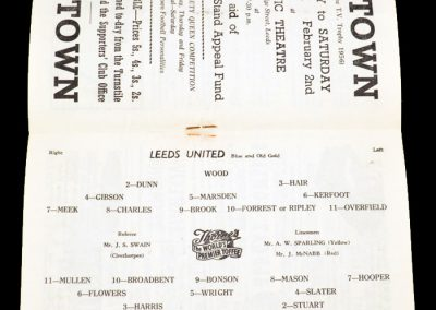 Wolverhampton Wanderers v Leeds United 19.01.1957
