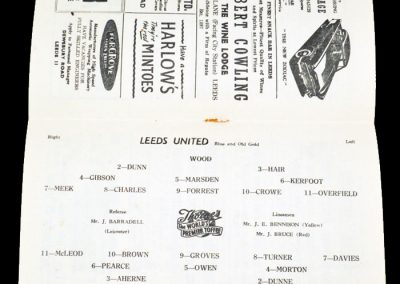 Luton Town v Leeds United 09.02.1957
