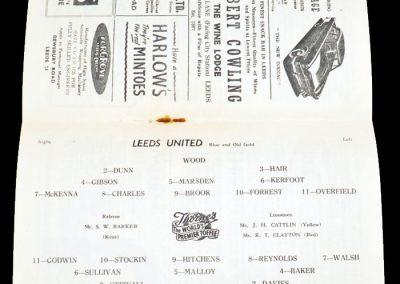 Cardiff City v Leeds United 16.02.1957