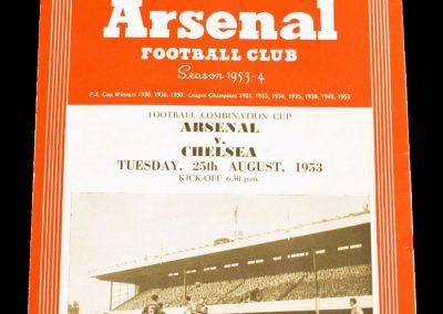Chelsea v Arsenal 25.08.1953