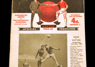 Wolverhampton Wanderers v Manchester United 24.09.1960