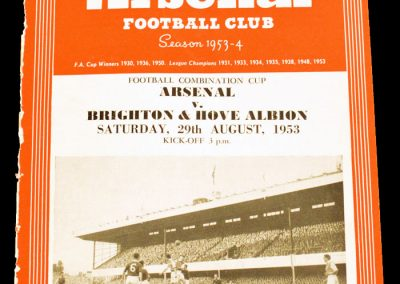 Brighton & Hove Albion v Arsenal 29.08.1953
