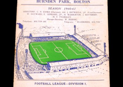 Bolton Wanderers v Manchester United 01.10.1960