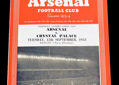 Crystal Palace v Arsenal 15.09.1953