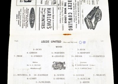 Newcastle United v Leeds United 16.03.1957