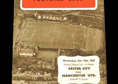 Exeter City v Manchester United 19.10.1960 | League Cup 1st Round