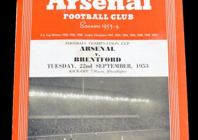 Brentford v Arsenal 22.09.1953