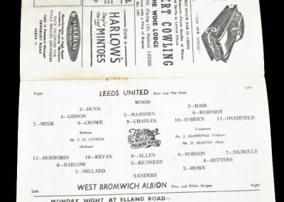 West Bromwich Albion v Leeds United 13.04.1957