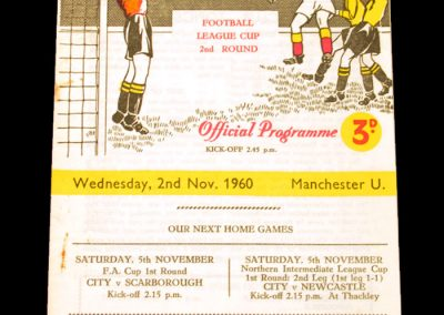 Braford City v Manchester City 02.11.1960 | League Cup 2nd Round