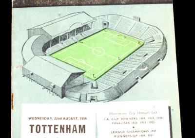 Tottenham Hotspur v Manchester City 22.08.1956